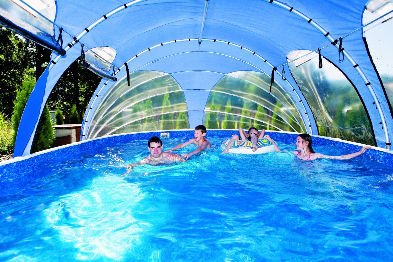 Mobile Überdachung 4,1 x 8,1 x 2,2m   Pool   Poolüberdachung ...
