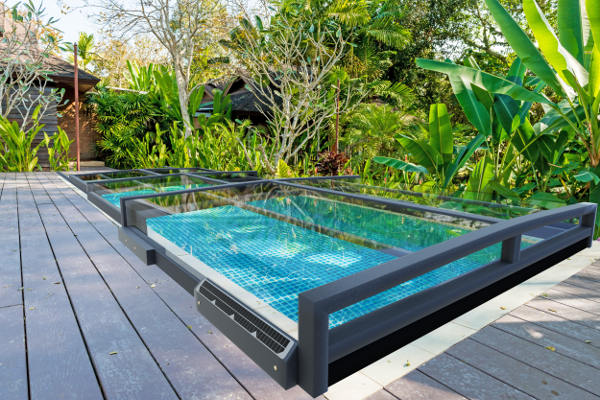 berdachung mit solarmotor pool pool berdachung whirlpools poolzubeh r. Black Bedroom Furniture Sets. Home Design Ideas
